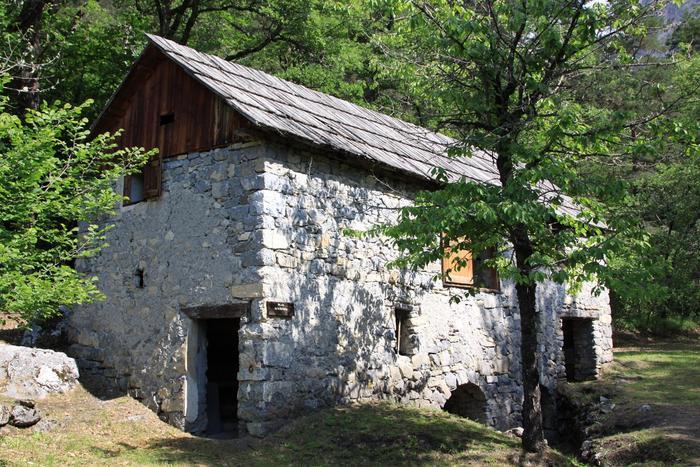 Moulin de la Barlatte. Cliché P. Thomassin, Roudoule.