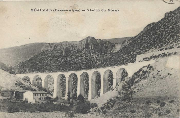 Méailles (Basses-Alpes) - Viaduc du Moana