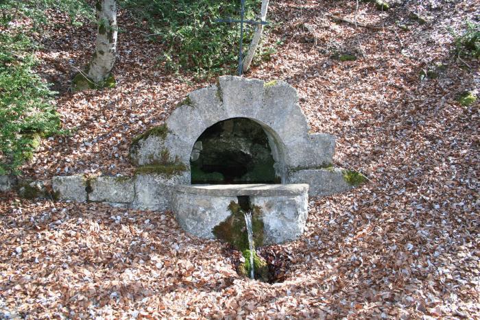 Fontaine de Saint-Jean-des-Près, ou Saint-Jean-du-Désert. Cliché P. Thomassin, Roudoule.