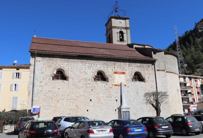 église Notre-Dame-de-l'Assomption, Puget-Théniers. Cliché : Thomassin, Philippe, Roudoule, écomusée en terre gavotte, mars 2019.