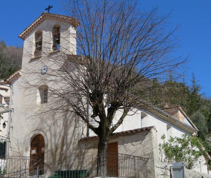 église Saint-Raphaël. Cliché : Thomassin, Philippe, Roudoule, écomusée en terre gavotte, mars 2019.