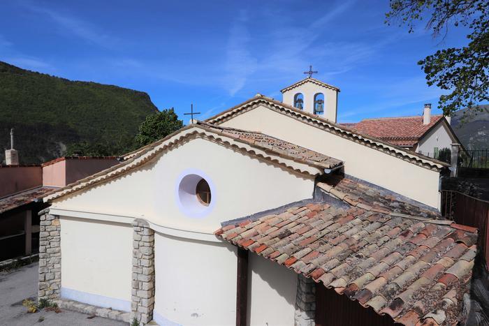 Eglise Saint-Jacques. Cliché : Thomassin, Philippe, Roudoule, écomusée en terre gavotte.