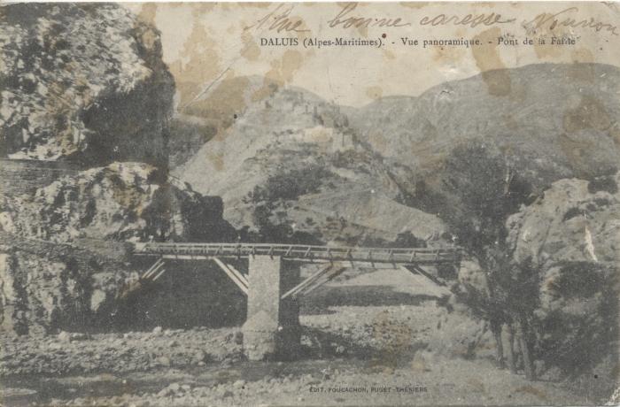 Daluis (Alpes-Maritimes) - vue panoramique - Pont de la Fante