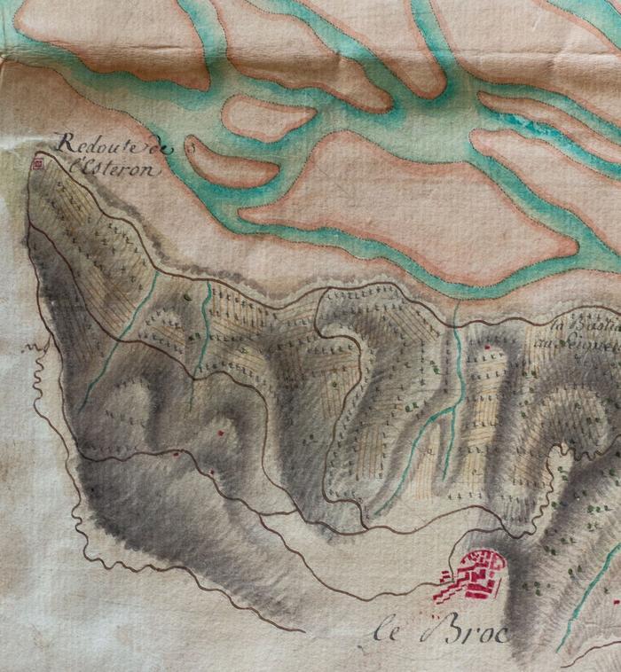 Redoute de l'Estéron. Bourcet, 1748. Fonds SHD J10C1103