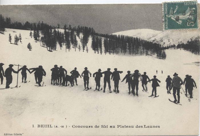 1. Beuil (A.-M.) - concours de ski au plateau des Launes